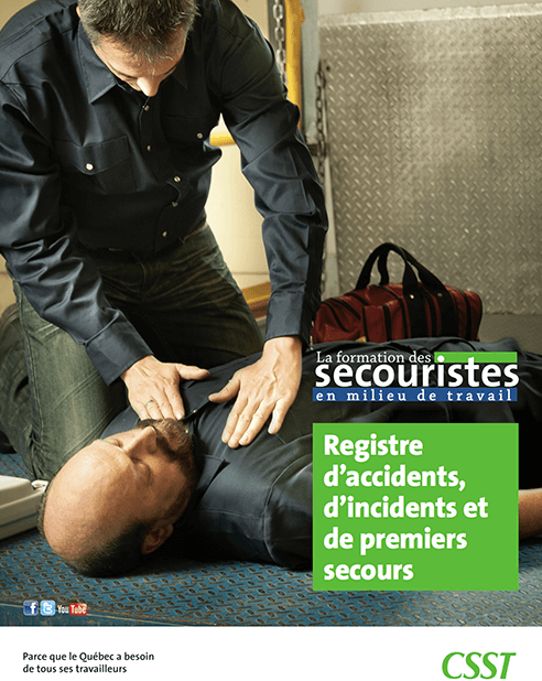 CNESST : Registre d'accidents, d'incidents et de premiers secours
