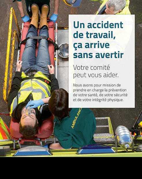 Affiche : Un accident du travail, ça arrive sans avertir