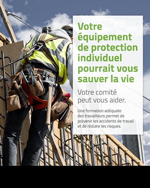 Affiche : Votre équipement de protection individuel pourrait vous sauver la vie