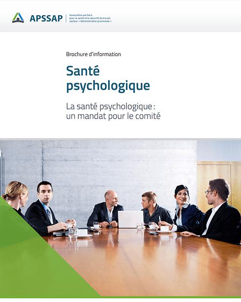 La santé psychologique: un mandat pour le comité